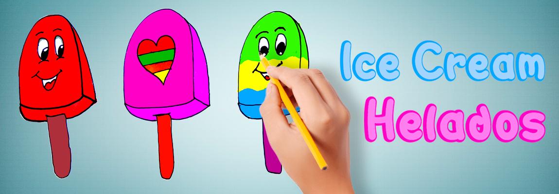 Coloreando unos helados