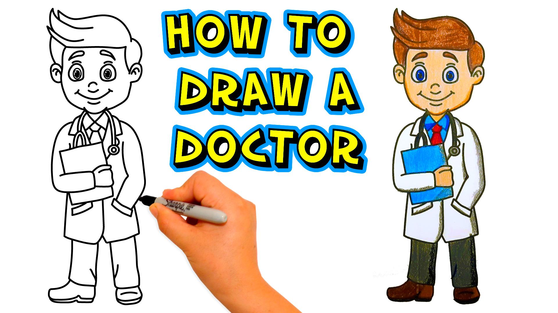 how-to-draw-a-doctor-como-dibujar-un-medico-paso-a-paso