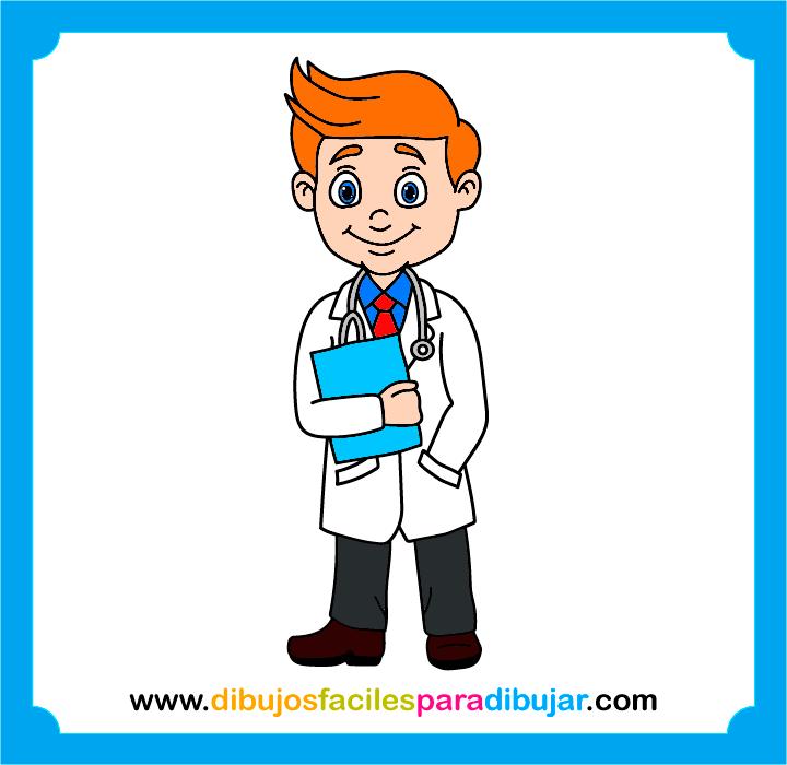 Cómo dibujar y colorear a un doctor paso a paso